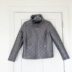 ANDREW MARC NEW YORK jacket size small grey zip up